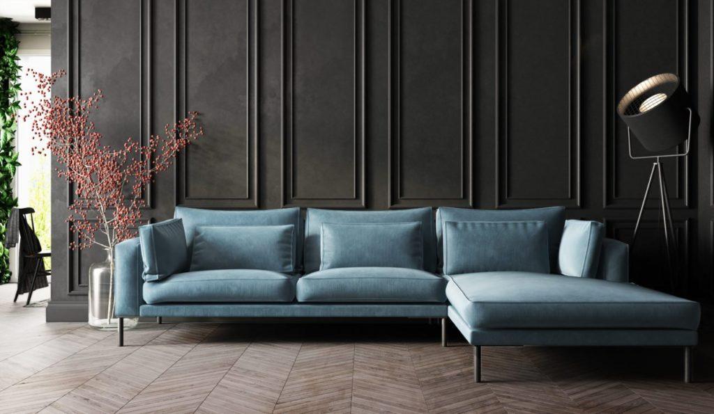 Sofa med stilfuld belysning fra Affordable Design