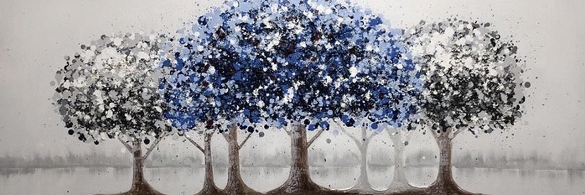 blå malerier